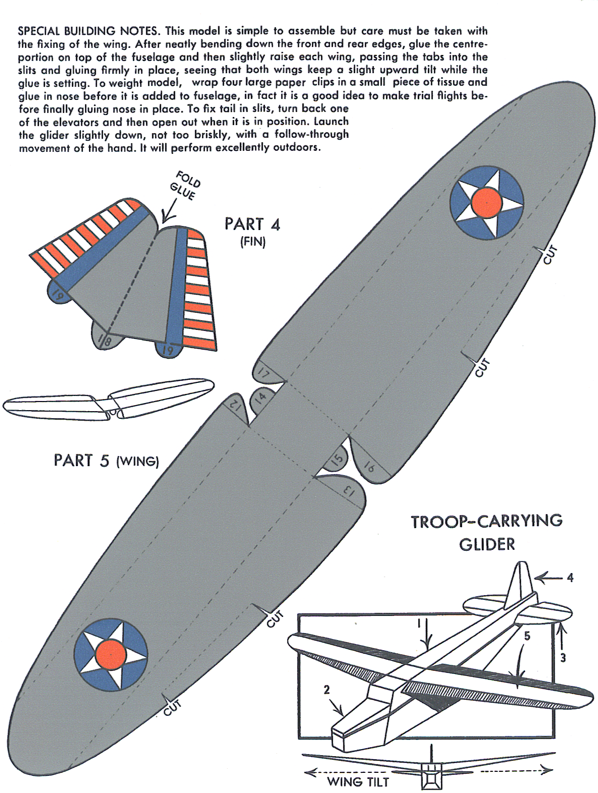 paper glider This do-it-yourself biplane glider makes a perfect afternoon craft project.